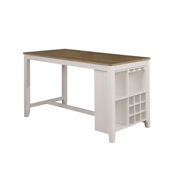 Furniture Of America Martin White Weathered Oak Counter Height Dining Table