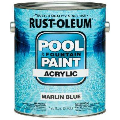 1 gal. Marlin Blue Acrylic Pool and Fountain Paint (Case of 2)