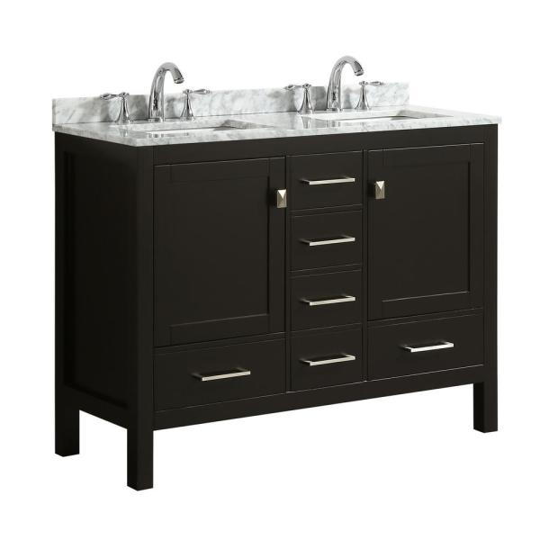 Transitional Espresso Bathroom Vanity