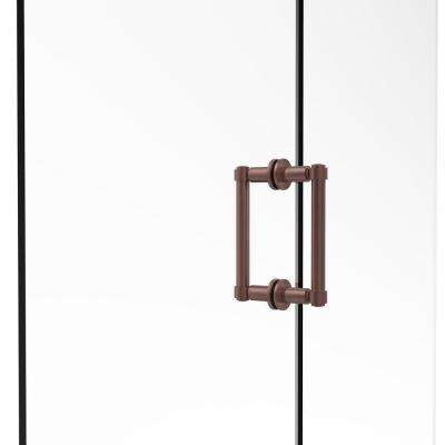 Contemporary 6 in. Back-to-Back Shower Door Pull in Antique Copper