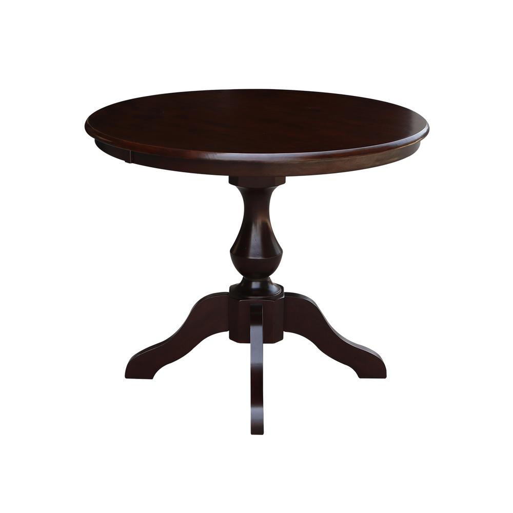 International Concepts Sophia 36 In Rich Mocha Round Pedestal Dining Table