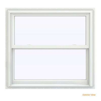 39.5 in. x 35.5 in. V-2500 Series White Vinyl Double Hung Window with BetterVue Mesh Screen