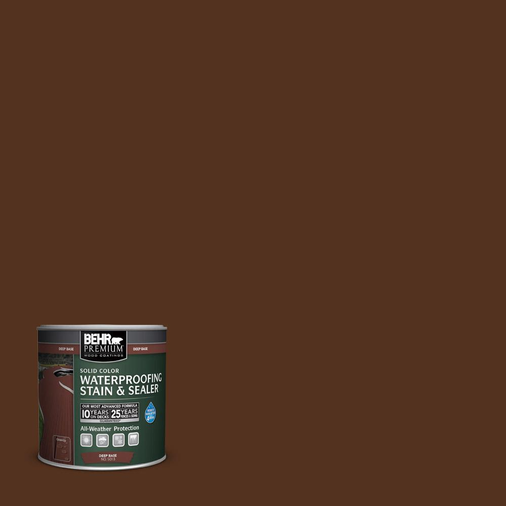 BEHR Premium 8 oz. #SC123 Valise Solid Color Wood Waterproofing Stain and Sealer Sample