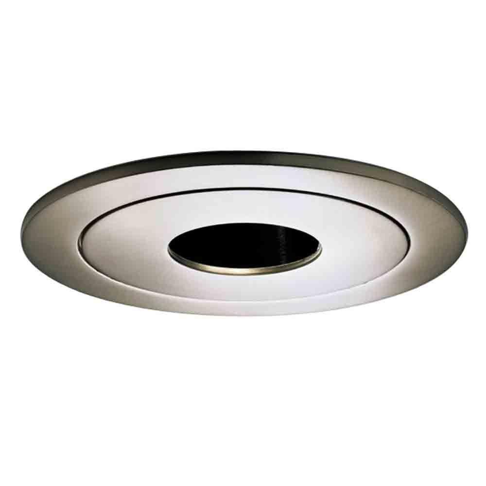 990 Series 4 in. Satin Nickel Recessed Ceiling Light Pinhole Trim