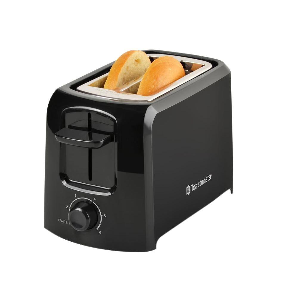 Toastmaster 2-Slice Black Toaster-2344 - The Home Depot