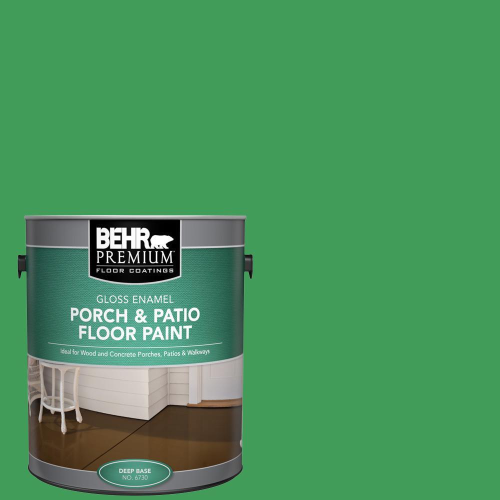 BEHR Premium 1 gal. #P400-6 Clover Patch Gloss Enamel Interior/Exterior Porch and Patio Floor Paint