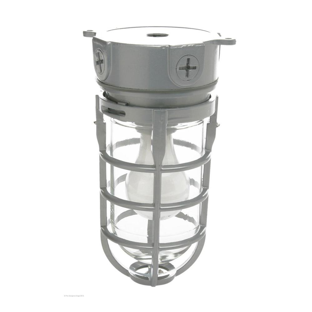 Industrial Outdoor Led Lighting: Designers Edge Industrial 1-Light Gray Outdoor Weather