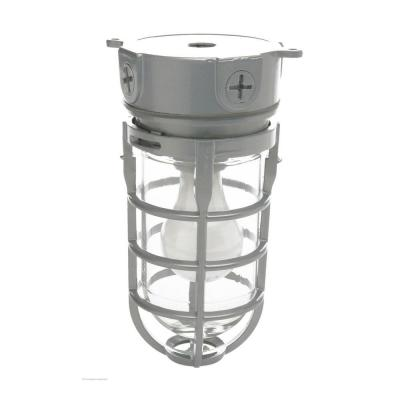 Industrial 1-Light Gray Outdoor Weather Tight Flushmount Light Fixture
