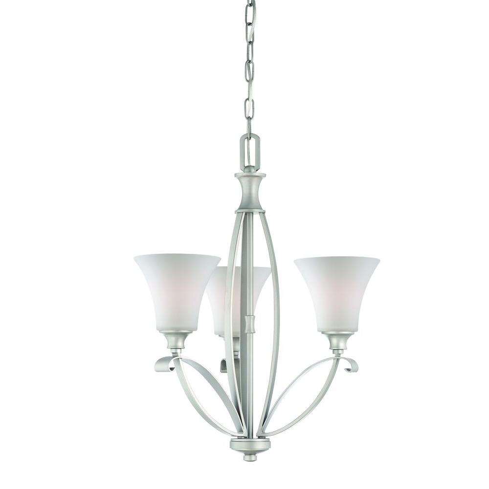 Thomas Lighting Magnolia 3-Light Matte Nickel Chandelier-DISCONTINUED