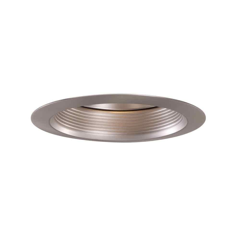Satin Nickel Recessed Ceiling Light Baffle Air-Tite Super Trim  sc 1 st  The Home Depot & Halo 6 in. Satin Nickel Recessed Ceiling Light Baffle Air-Tite ... azcodes.com