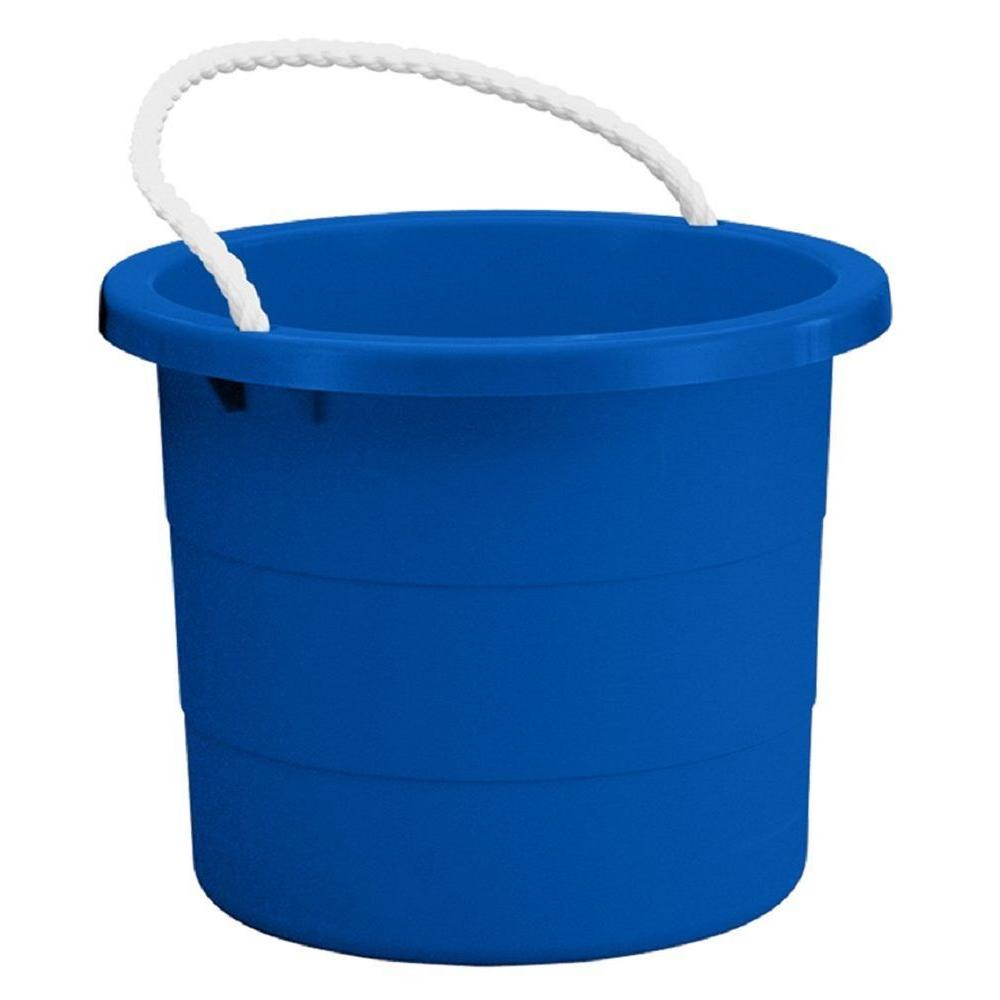 Nice Rope Handle Storage Tub In Blue