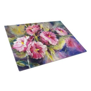 April Showers Bring Spring Flowers Tempered Glass Large Heat Resistant Cutting Board
