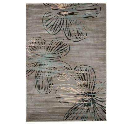 Opus Modern Floral Gray 3 ft. 3 in. x 5 ft. Area Rug