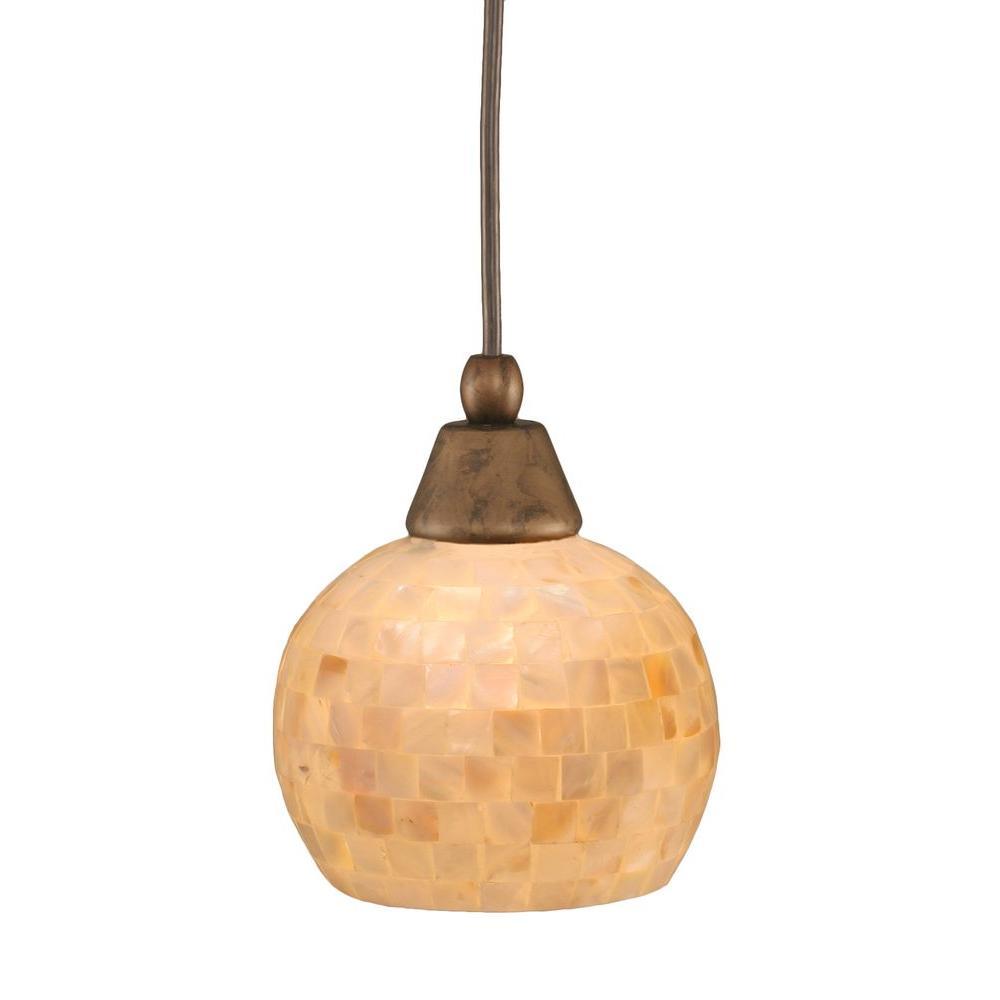 Filament Design Concord 1-Light Ceiling Bronze Halogen Pendant-DISCONTINUED