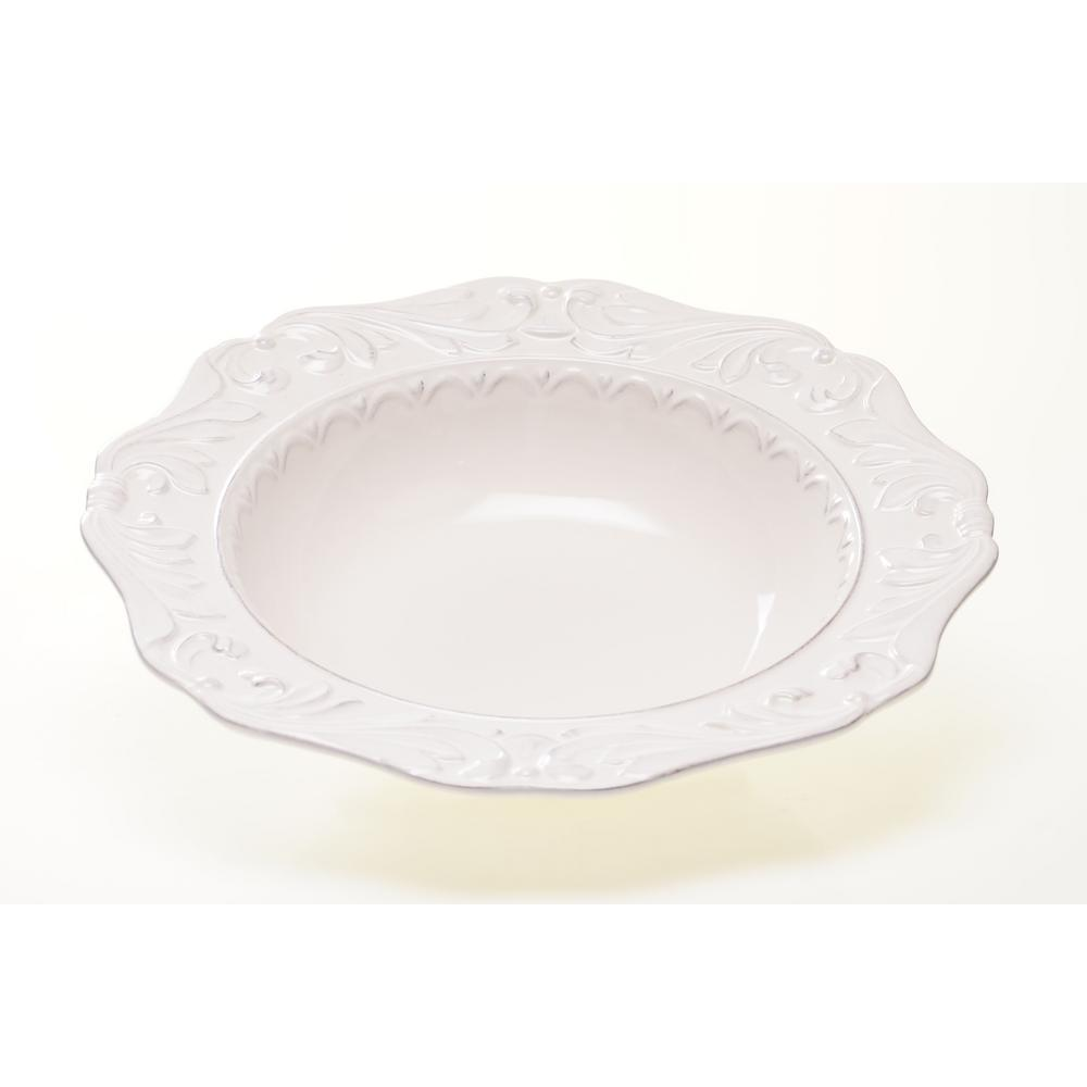 Firenze Ivory Pasta/Salad Serving Bowl