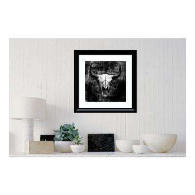 24 in. W x 24 in. H 'Black Cowskull' by Graphinc Framed Printed Wall Art