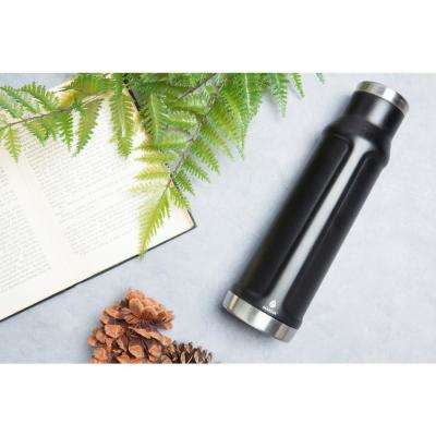 Paragon 21 oz. Powder Coated Black Vacuum Insulated Stainless Steel Bottle