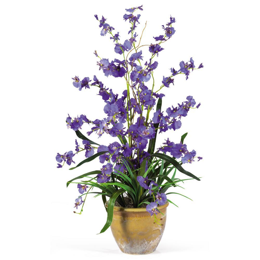 26 in. Dancing Lady Silk Orchid Arrangement in Purple