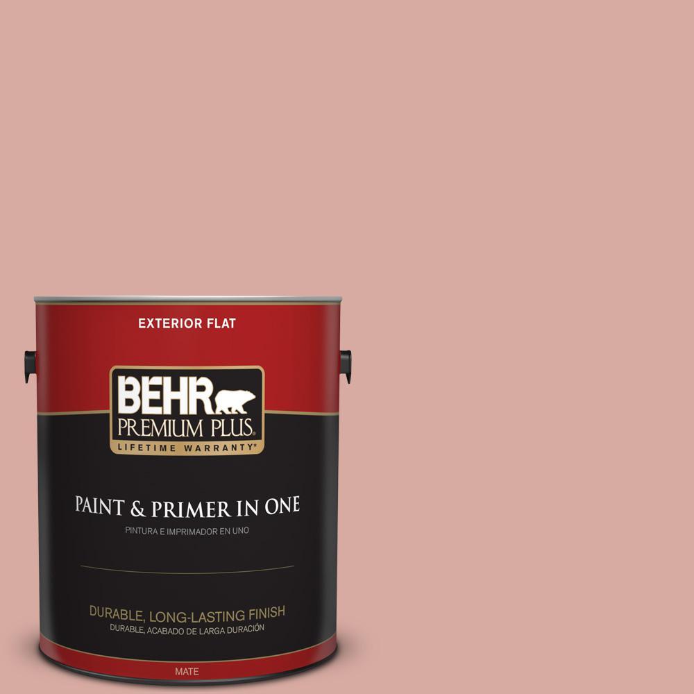 BEHR Premium Plus 1 gal. #T17-06 Everything\'s Rosy Flat Exterior ...
