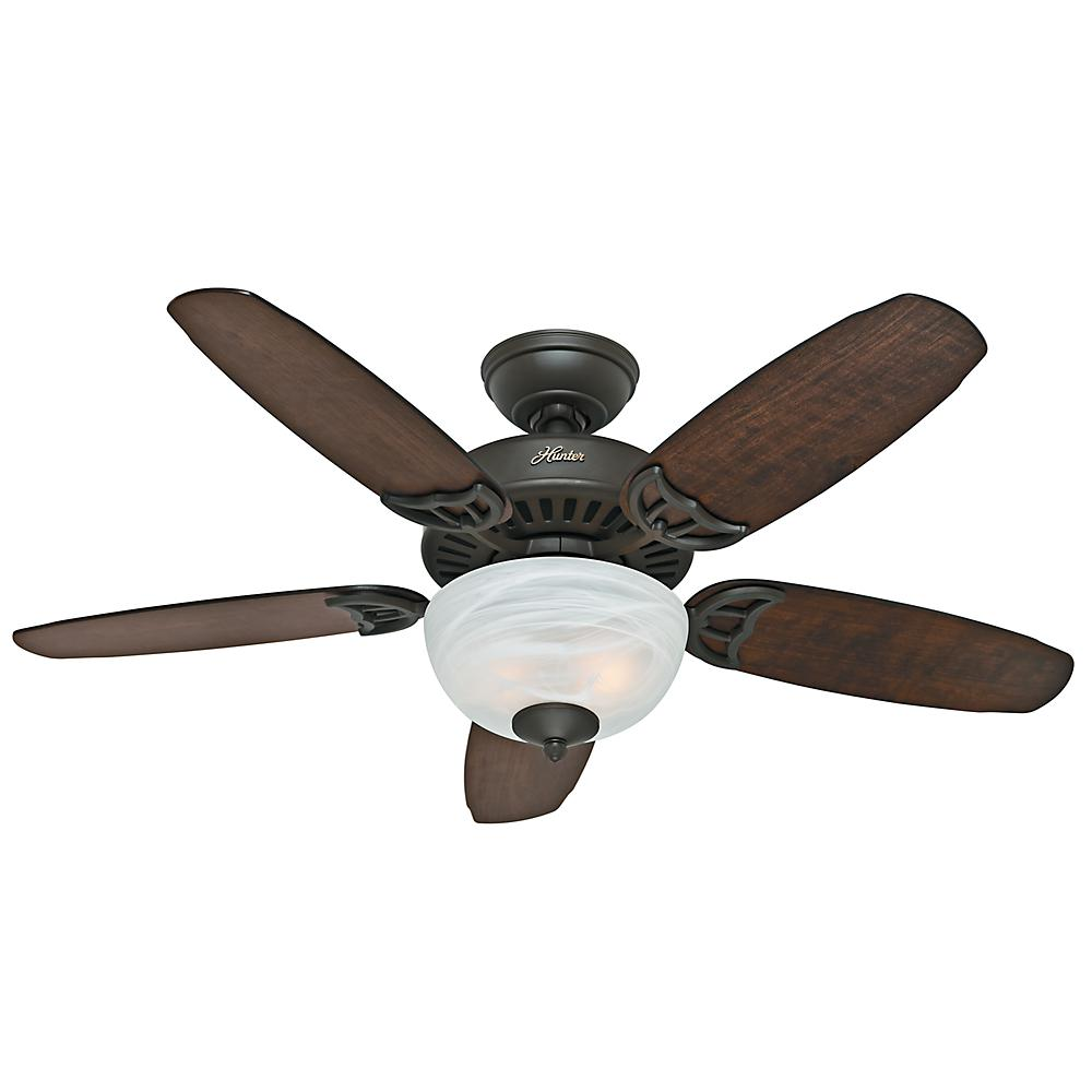 Crawford 46 in. Indoor New Bronze Ceiling Fan with Light