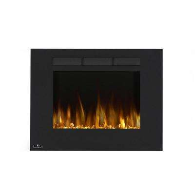 32 in. Wall-Mount Linear Electric Fireplace in Black