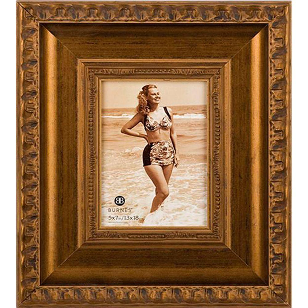 Home Decorators Collection Girona 1-Opening 4 in. x 6 in. Gold Picture Frame