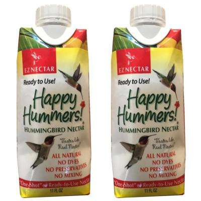 11 fl. oz. Hummingbird Nectar/Food One-Shot Ready-to-Use 100% Sugar and Water (2-pack)