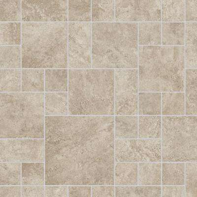 Sandblast Stone Neutral 13.2 ft. Wide x Your Choice Length Residential Vinyl Sheet Flooring