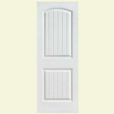 30 in. x 80 in. Cheyenne Smooth 2-Panel Camber Top Plank Hollow Core Primed Composite Interior Door Slab