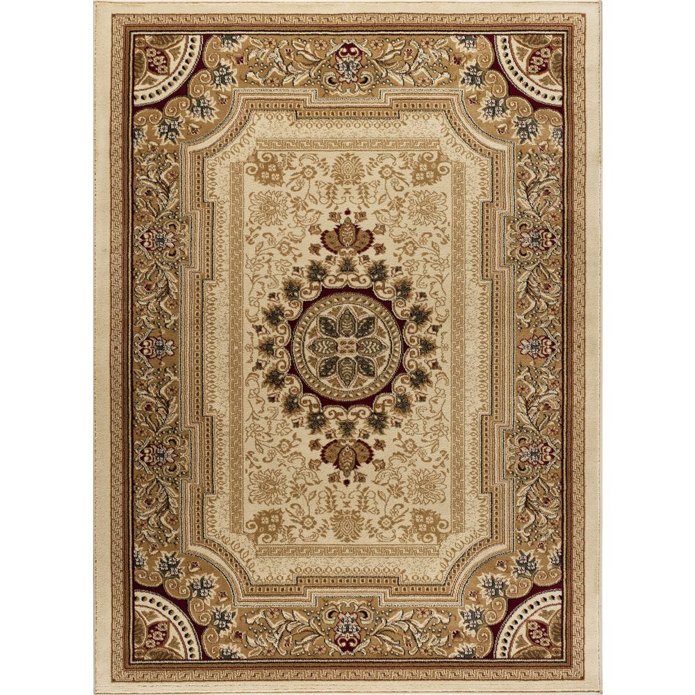 Tayse Rugs Sensation Ivory 9 Ft X 12 Traditional Area Rug