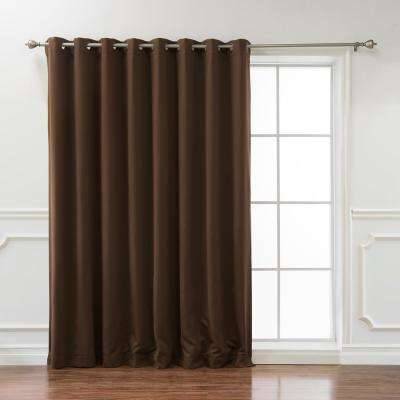 Wide Basic 100 in. W x 108 in. L Blackout Curtain in Chocolate