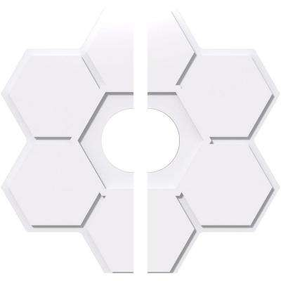 22 in. OD x 5 in. ID x 1 in. P Daisy Architectural Grade PVC Contemporary Ceiling Medallion (2-Piece)