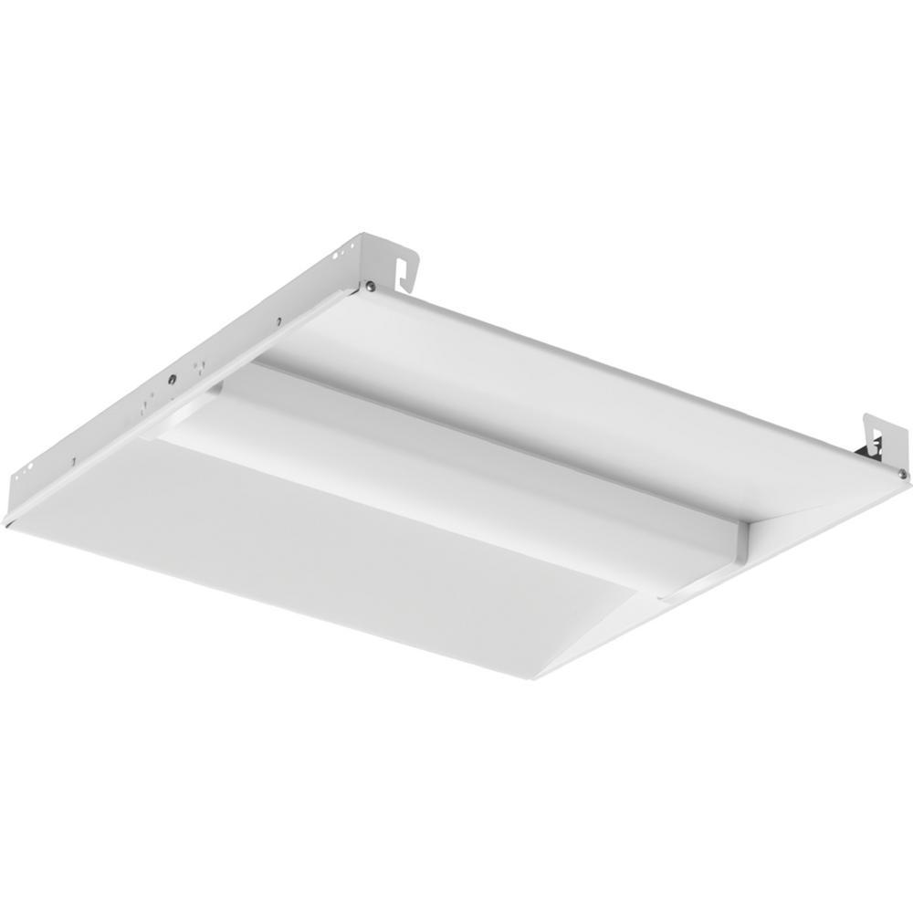 Lithonia Lighting 4 Ft 40 Watt White Integrated Led: Lithonia Lighting 2 Ft. X 2 Ft. 64-Watt Equivalent