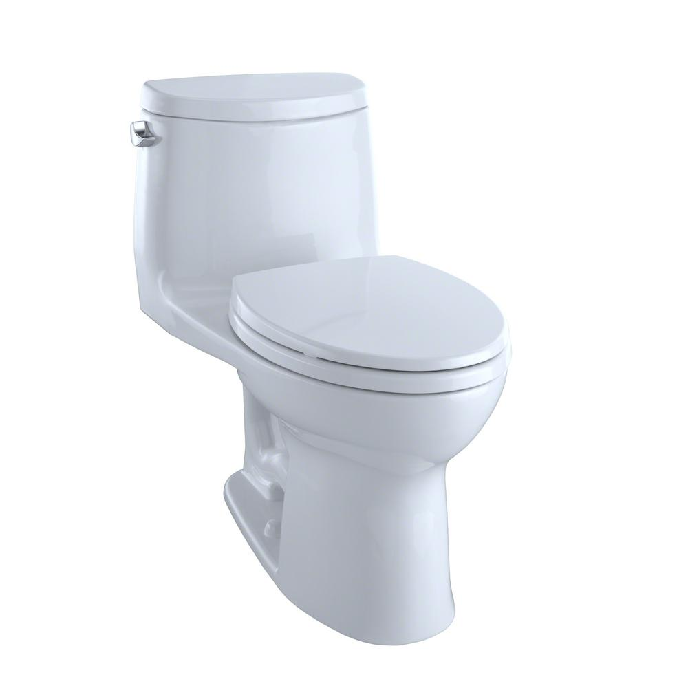 TOTO UltraMax II 1 Piece 128 GPF Single Flush Elongated Toilet With CeFiONtect In Cotton