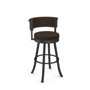 Prime Americo 30 In Textured Brown Metal Dark Brown Grey Polyester Barstool Pabps2019 Chair Design Images Pabps2019Com