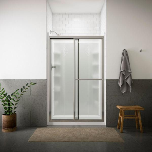 "Sterling 5975-48N-G06 Deluxe 43.875""-48.875""W x 70""H Sliding Shower Door, Available in Various Colors"