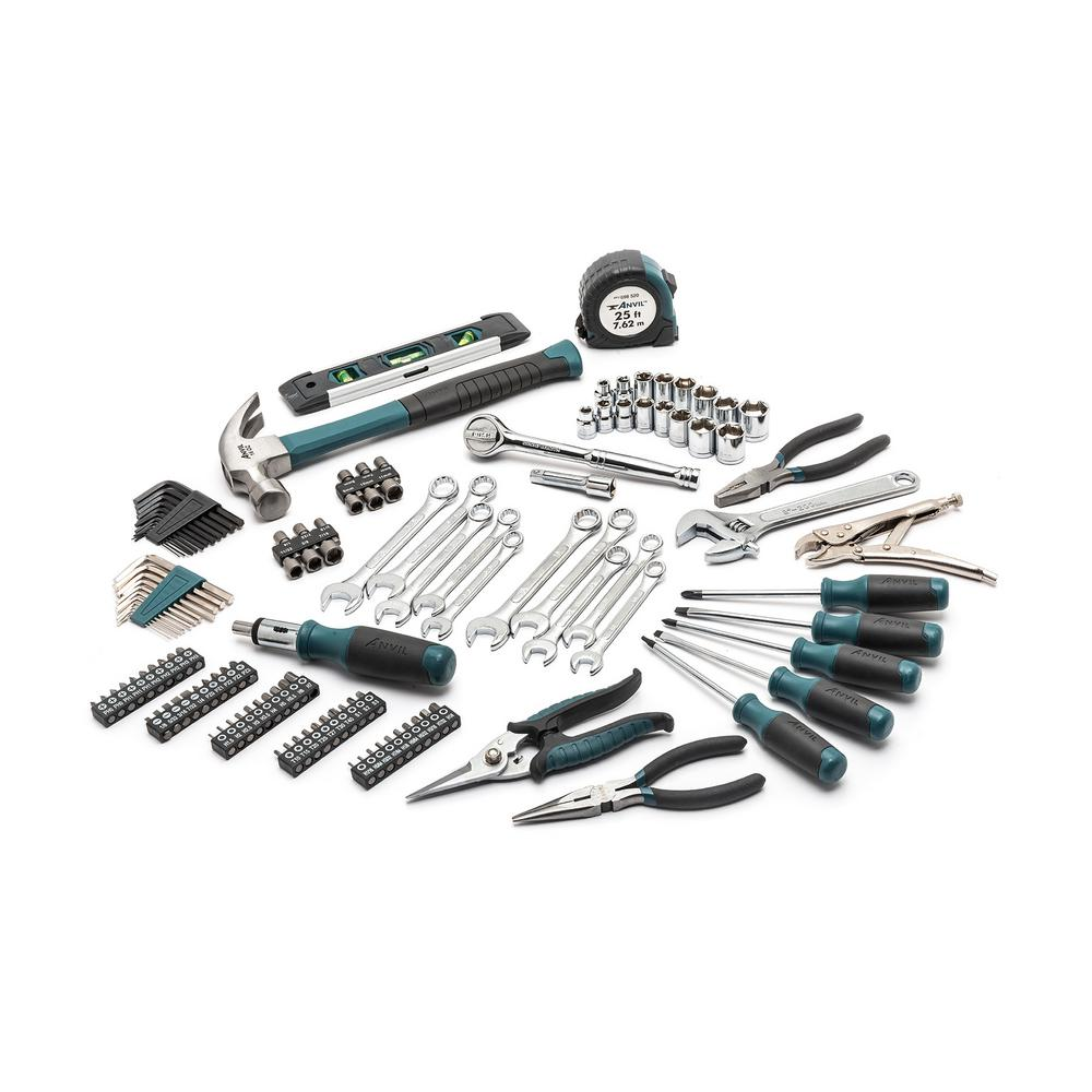 3/8 in. Drive SAE and Metric Homeowners Tool Set (137-Piece)