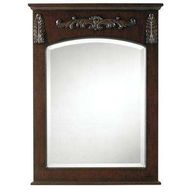 Chelsea 35 in. L x 26 in. W Wall Mirror in Antique Cherry