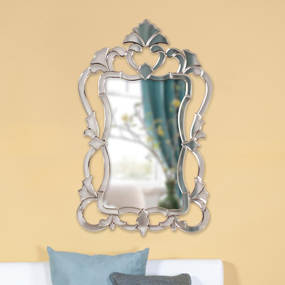 43 in. x 26 in. Venetian Framed Mirror-11103 - The Home Depot