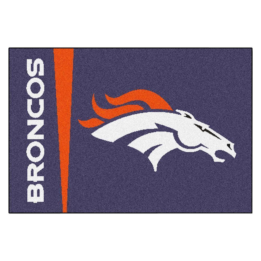 NFL Denver Broncos Uniform Inspired Navy Blue 2 ft. x 3 ft. Area Rug