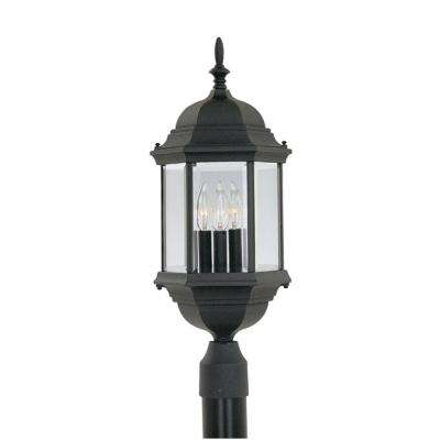 Erving Collection 3-Light Outdoor Black Post Lantern
