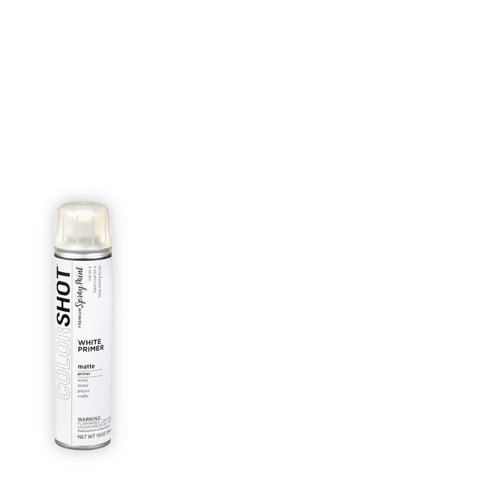 COLORSHOT 10 oz. Matte Primer White General Purpose Aerosol Spray Paint