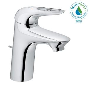 Eurostyle S Size Single Hole Handle Bathroom Faucet In Starlight Chrome