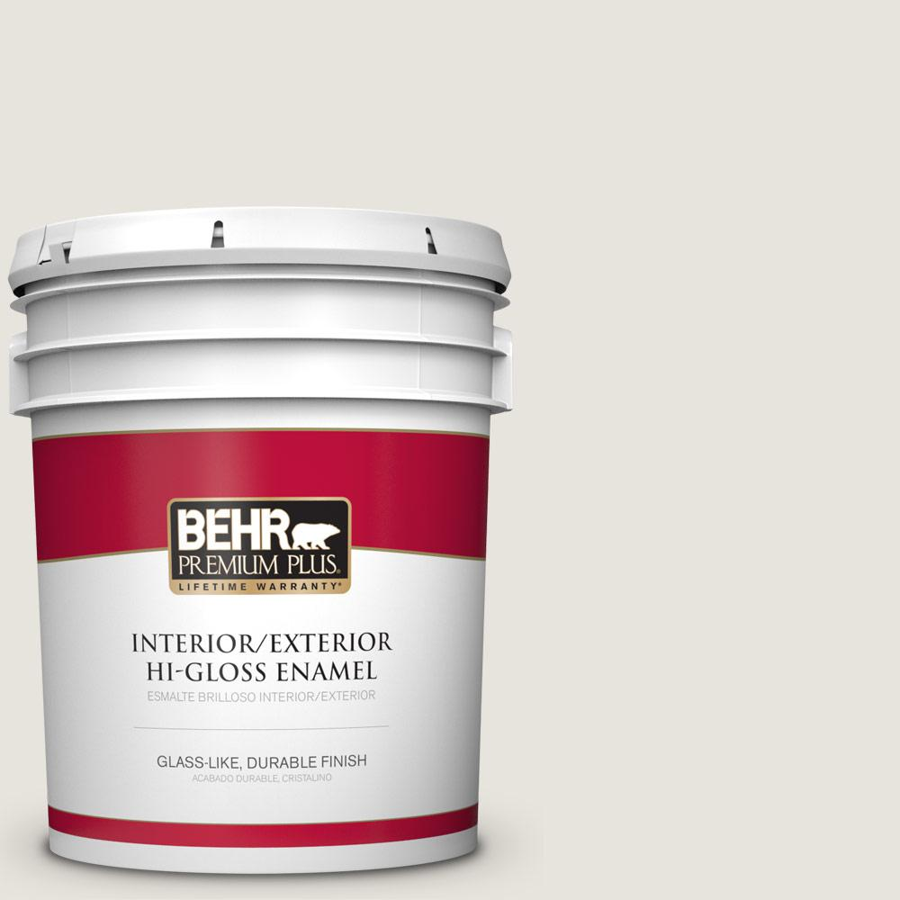 5 gal. #PPU24-13 White Pepper Hi-Gloss Enamel Interior/Exterior Paint