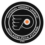 Philadelphia Flyers Black 27 in. Round Hockey Puck Mat
