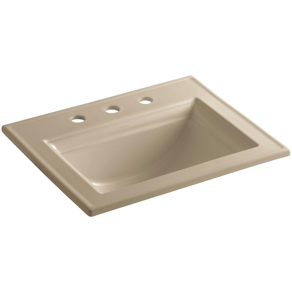 Memoirs Stately Drop-In Vitreous China Bathroom Sink in Mexican Sand with