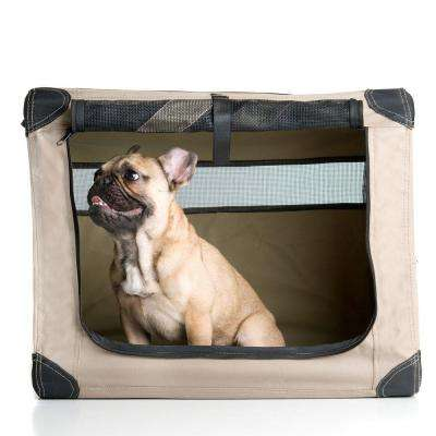 22 in. x 18 in. x 15 in. Small Dog Digs Patented Collapsible Travel Crate