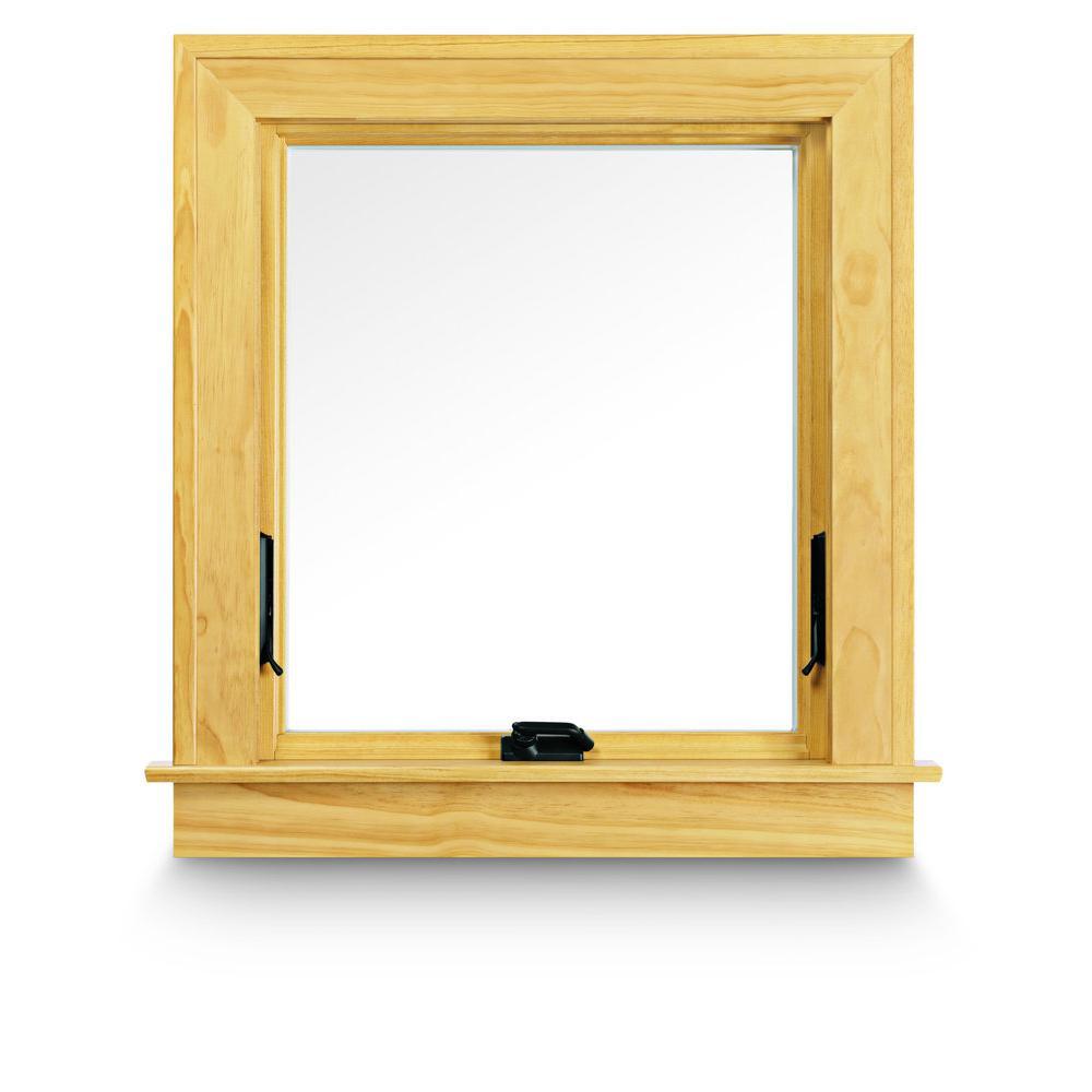 Installed Wood Awning Windows