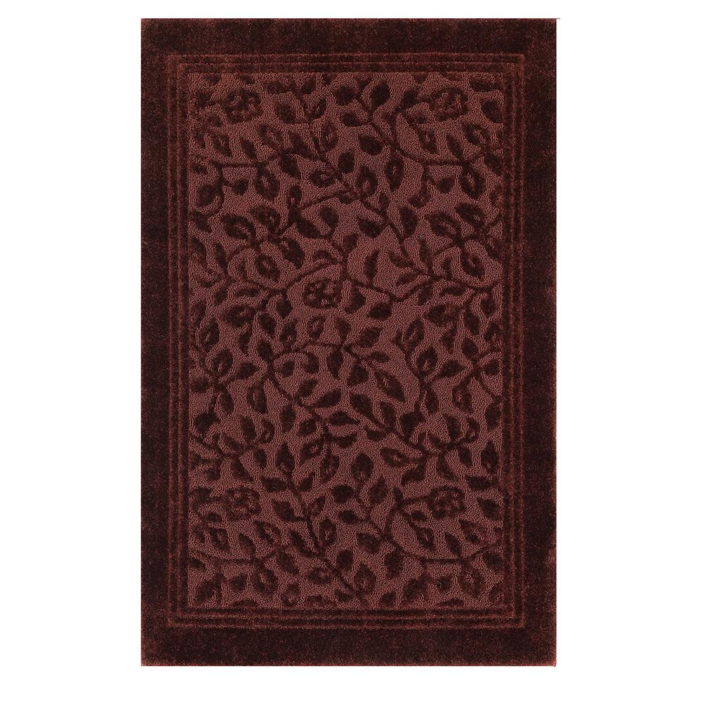 Wellington 5 ft. x 7 ft. Nylon Bath Rug in Claret