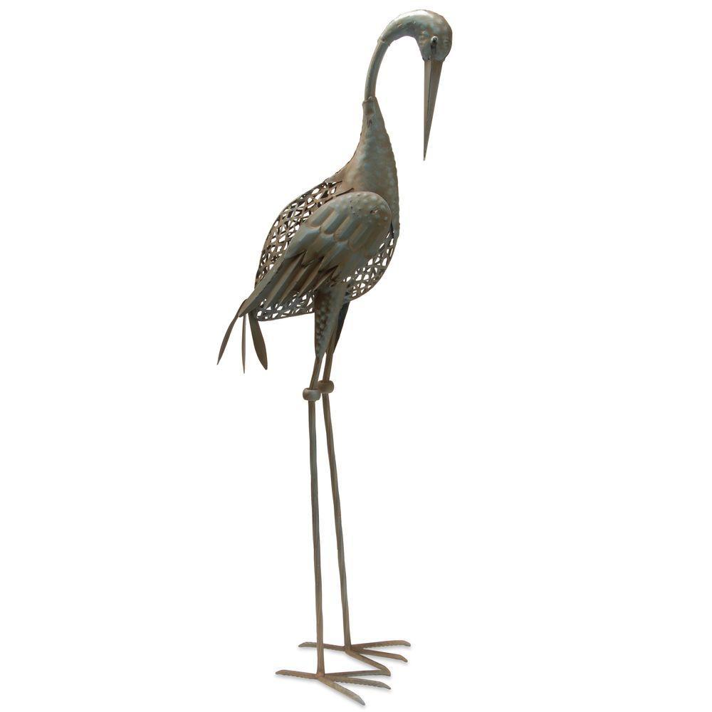 35 in. Garden Accents Crane Decoration